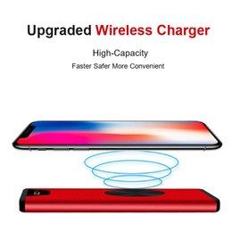 lg he4 baterias Desconto New Ultrafino Iphone 11 XS 8plus sem fio Carregador 20000mA carregamento rápido Mobile Power Smartphone Carregador de Apoio três simultânea de carregamento