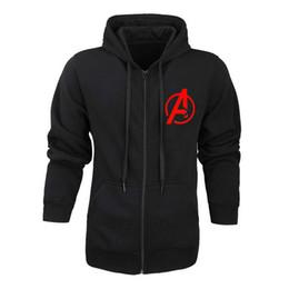 Capitan america chaqueta con capucha online-Final de partida trajes Quantum Reino Cosplay sudadera con capucha de la chaqueta con capucha Tech América Capitán Marvel de la cremallera de los hombres Hoodies