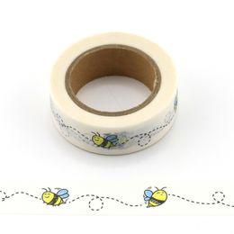 animais de fita ishi Desconto 1 rolo bonito abelhas decorativas Washi Tape DIY Scrapbooking Masking Tape animais Escola de Material de Escritório 2016