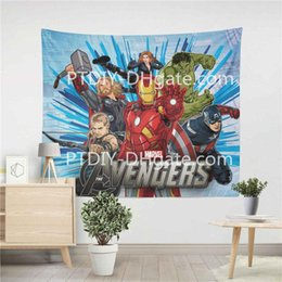 Fashion Living Room Bedroom Dorm Home Decor Paintings avengers Super Hero  Comics Marvel Captain America tapestry wall