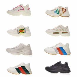 avec boîte 2019 Sneaker brodé Fashion Ace Casual Papa Chaussures Hommes Femmes Beige Noir Bee Rhyton Pour Hommes Chaussures de marque ? partir de fabricateur
