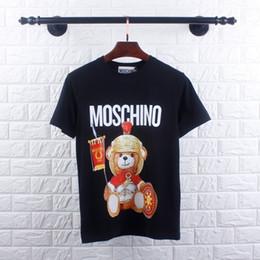 Ours de nouveauté en Ligne-Tee-shirts en coton pour hommes Vêtus d'armures d'ours en armure Mode de fantaisie Tissus de haute qualité