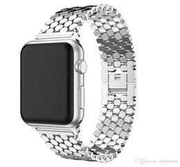Venta caliente Correas de reloj de acero inoxidable Muñeca Para Iwatch Apple Hombre Reloj Banda Correa Mujeres Pulsera Accesorios Deporte serise 1 2 3 38mm 42mm desde fabricantes