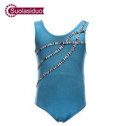 Kızlar Safir Mavi Leotard Bale Dans Çocuklar Spandex Likra Leotard Unitard Gençlik Çocuk Jimnastik Mayoları Kostümleri nereden