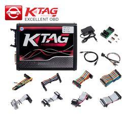 Programador online-KTAG V7.020 EU Red PCB OBD2 Manager Tuning Kit K-TAG 7.020 V2.23 coche camión ECU Programador herramienta apariencia original
