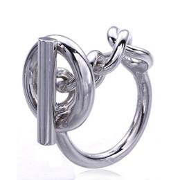 schmuckschlösser Rabatt 925 Sterling Silber Seil Kettenring Mit Hoop Lock Für Frauen Französisch Beliebte Verschluss Ring Sterling Silber Schmuck Machen