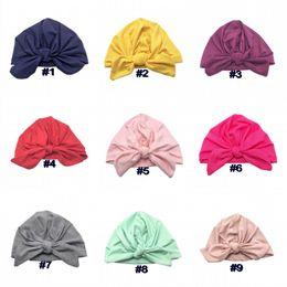 Sombrero de los niños Cap Baby Girls Boys INS 2019 Color Sólido Orejas de Conejo Turban Indian Hat Infant Toddler Cap Niños Accesorios 9 Colores Q189 desde fabricantes