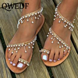 zapatos roma Rebajas QWEDF Nuevas sandalias de mujer de verano hecho a mano con cuentas zapatos de gladiador de punta abierta para mujer de la moda roma sandalias de playa SC-01