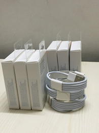 Caja de cable usb para iphone online-Con caja de embalaje al por menor 1m 3ft 2m 6ft OD 3.0mm Cable de cargador de datos USB con papel de aluminio cable usb para i5 6 7 8 x