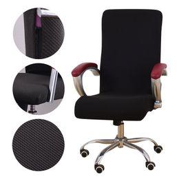 Cadeiras de escritório on-line-Universal Jacquard Tecido Cadeira de escritório tampa Computador poltrona elástica Slipcovers cadeira do Assento Do Braço Cobre Stretch Rotating Lift