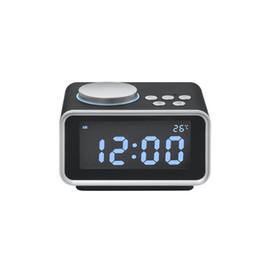 Batería de reloj digital led online-Creative Alarm Clock Digital Multifuncional Battery Operated Table Clock con pantalla LCD de temperatura y luz nocturna ZJ0393
