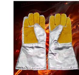 Deutschland Hochtemperaturbeständige, Aluminium-Folienhandschuhe, Innenhandschuhe, Leder, Verschleißfeste, Hitzebeständige Handschuhe, Industrielle Verarbeitungshandschuhe cheap leather foil Versorgung