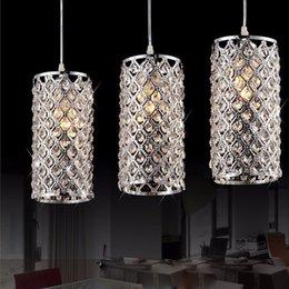 Lampada da soffitto in cristallo dorato chiaro online-Moderno cristallo dorato / cromato lucido LED cristallo lampadario E27 / 26 Lampadario Lampadario