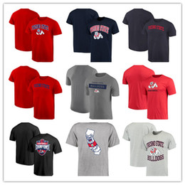 Fresno State Bulldogs Campus Sommer T-Shirt Kurzarm Runder Kragen T-Shirt 2018 Mountain West Football Champions von Fabrikanten