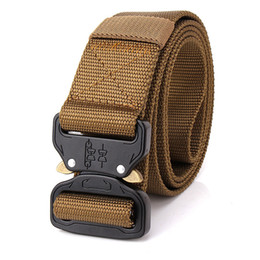 free molle gear Promo Codes - High Quality Cheap Tactical Gear Heavy Duty Belt Cobra Nylon Metal Buckle S.W.A.T Molle Padded Patrol Waist Belt Hunting Accessories