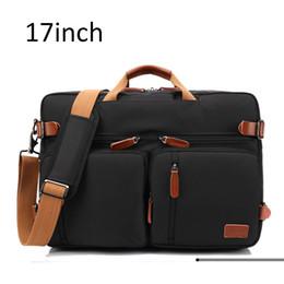 Valigetta per laptop da 17 pollici online-17 pollici uomini valigetta borsa a tracolla borsa da uomo d'affari casual borsa multifunzionale borse da viaggio per uomo grande XA161ZC
