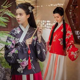 alte chinesische kostüme frauen Rabatt Klassische Hanfu Kostüm Frauen Tang Dynastie Traditionelle Chinesische Antike Kostüme Frau Fee Kleid Volkstanz Kleidung DNV10729