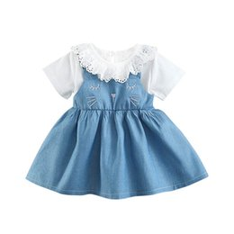 23303b81fbca Ins cute cat girls dresses lace baby girl dress Summer baby princess dress  newborn baby girl clothes toddler girl clothes A5584 discount girl cute cat  ...