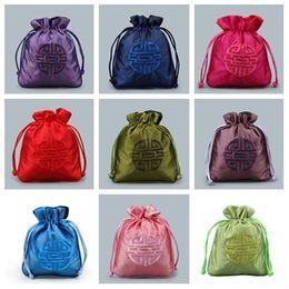 2019 curl cinese Nuove borse di stile cinese con coulisse, sacchetti di immagazzinaggio dei monili di imballaggio di cerimonia nuziale della caramella di modo impacchettano l'involucro di regalo T2C5020 curl cinese economici