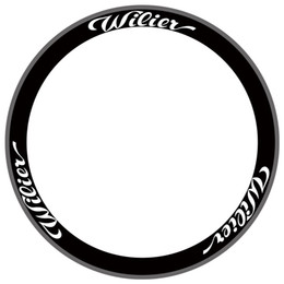 etiquetas da roda de carbono da bicicleta da estrada Desconto Duas Rodas Conjunto de Adesivos para Wilier para Bicicleta de Estrada de Carbono Raça Ciclismo Bicicleta À Prova D 'Água Adesivo de Parede Decalques 38mm 50mm # 233836