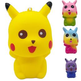 10,5 * 6,5 * 6 cm Pikachu Squishies profumato Kawaii Squishy Squeeze Rilievo lento giocattolo Decompressione giocattoli per bambini C1184 da