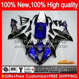1998 kawasaki zx 9r carenagens Desconto Corpo para a Yamaha azul branco quente YZF1000 YZF R1 1000 cc YZF1000 1000cc 63HC.11 YZF R1 04-06 YZFR1 YZFR1 04 05 06 2004 2005 2006 Fairing kit