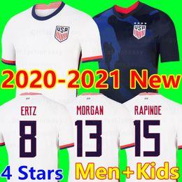 Camisetas de futebol dos eua on-line-4 star new USA 2020 camisas de futebo World cup copa America Soccer Jersey Lavelle Shirt 20 21 champion USA LLOYD RAPINOE KRIEGER United States futebol kit camisa de futebol