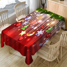 großhandel runde tischdecken Rabatt Weihnachten Tischdecke Print Rechteck Tischdecke Holiday Party Home Decor Tischdecke rechteckige Abdeckung