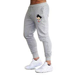 Casual Funny Print Goku Pantalones para hombre de algodón Otoño Invierno  Gris Hombres Joggers Pantalones de chándal Tallas grandes Pantalon negro b30e00c3709c