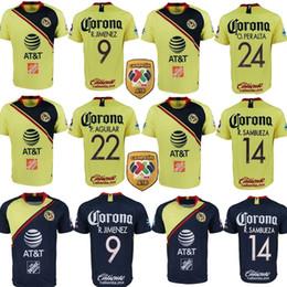 camiseta de fútbol naranja Rebajas Camisetas de fútbol de 2018 LIGA MX Club America en casa 3.a naranja 18 19 O.PERALTA C.DOMINGUEZ MATHEUS camisetas de fútbol de México Jersey de fútbol