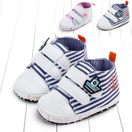2019 nouveau-né bébé filles garçons chaussures printemps bleu rayé rose nourrisson belle anti-dérapant premier marcheur lacets bébé mocassins Schoenen ? partir de fabricateur