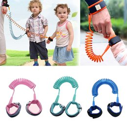 kinder leine baby Rabatt 1,5 mt Kind Anti Verlorene Gurt Kinder Sicherheit Armband Sicherheitsleinen Anti-verlorene Handgelenk Link Band Baby Walking Wings 4colos RRA1586