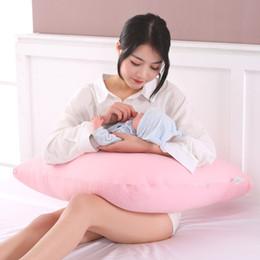 almohadas v Rebajas Almohada para mujeres embarazadas tipo V almohada lactancia multifuncional para el aprendizaje del bebé