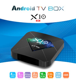 android mini pc skype Rebajas R TV BOX X10 Amlogic S905W Android 7.1 Caja de TV 2GB 16GB 2.4G Wifi 4k H.265 IPTV Set Top Box