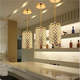 Luci a soffitto dorate online-Moderno cristallo dorato / cromato lucido LED cristallo lampadario E27 / 26 Lampadario Lampadario