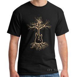 guitare de la vie Promotion Guitar Tree Of Life Homme t-shirt 2019 Mode été Style Musique Guitare arbre à manches courtes hommes Tshirt tops