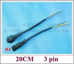 2019 typen led-streifenverbinder allgemeine 3-Pin-Stecker Draht-Kabel wasserdicht IP65 männliche und weibliche für Outdoor-LED-Beleuchtungen 300V 20CM 3-polig CE ROHS