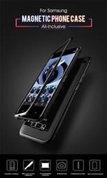 Магнитный чехол для телефона Samsung Note 8/9 s8 / 9 plus note8 / 9 s10 s10e Адсорбционное закаленное стекло Крышка задней панели Чехлы для мобильных телефонов от