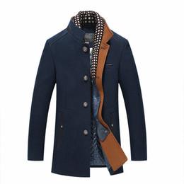 61e3b52c9c7da2 Plus Size Inverno uomo Cashmere Casual Coat Fashion Business solido  addensare Slim giacca cappotto di lana maschile abbigliamento 4xl economico  più il ...