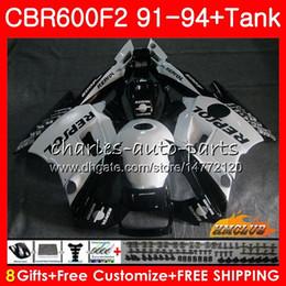 Weißes repsol kit online-+ Tank für HONDA CBR 600F2 CBR600FS 600cc 1993 1994 93 94 Repsol Weiß Verkleidungs 40NO.114 CBR600 F2 CBR 600 FS F2 CBR600F2 1991 1992 91 92 Kit