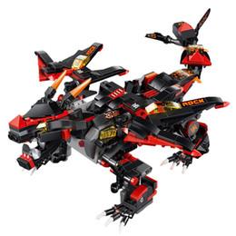 Canada 433PCS / Set DIY Assemblée 2.4G 4 Canaux Télécommande Dinosaure Véhicule Démon Guerre Dragon Camion Moteur Électrique Jouet Pour Enfants supplier electric motors for toys Offre