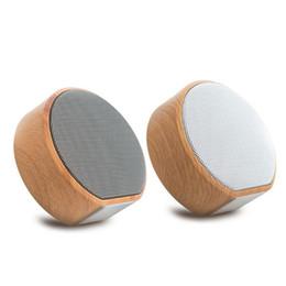Piccoli altoparlanti online-Nuovo Altoparlante Bluetooth in legno Scheda radio Subwoofer Bluetooth Piccolo audio Mini Lettore musicale wireless portatile di alta qualità