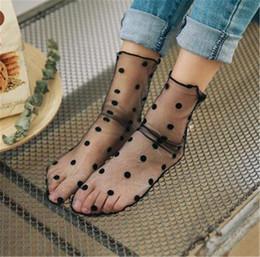 Calcetines de red online-Venta caliente de la mujer de la colmena del tobillo del tobillo calcetines altos de señora Mesh Lace Fish Net calcetines cortos Chaussettes Femme
