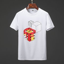 2019 precios de camisetas Diseñador Hombres camiseta de manga corta de verano Dados camiseta Camiseta de los hombres de alta calidad Precio barato M-XXXL Tamaño grande camiseta precios de camisetas baratos