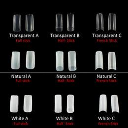 2019 gel maniküre natürliche nägel Falsche Nagel Acryl UV Gel Falsche Nagel 100pcs Natürliche / transparente Half-Cover Maniküre Nail Art Tips Extension günstig gel maniküre natürliche nägel