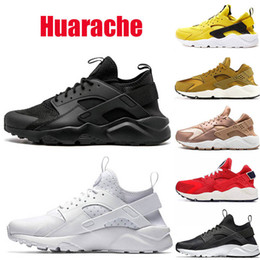 Homens preto vermelho huarache on-line-nike air huarache ACE huarache IV 4.0 1.0 mulheres tênis triplo preto branco vermelho moda huaraches marca mens formadores mulheres sports sneaker