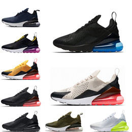 2019 nouvelle photo chaude nike air max 270 shoes Nouvelles chaussures de course de mode hommes baskets hot punch photo bleu hommes chaussures blanc université rouge volts olive habanero baskets 36-45 promotion nouvelle photo chaude