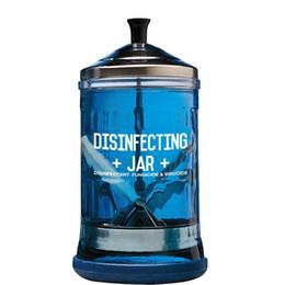 pelo riwa Rebajas Tarro Desinfectante para Styling Salon peluquero, manicura Desinfección de cristal JAR-mediano tamaño fácil higienizar y desinfectar las herramientas