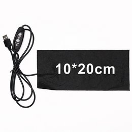 heat gear Promo Codes - USB Electric Heating Pad 3 Gear Adjusted Temperature DIY Thermal Vest Jacket Clothing Heated Pads 1pc