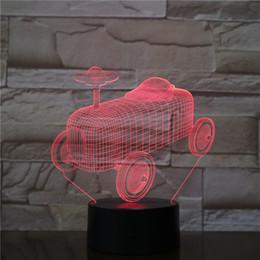 juguetes con alimentación usb Rebajas Coche de juguete Optica LED Lámpara LED Ilusión Luz Acrílico Luz Panel Decoración Decoración Bandeja de la batería DC 5V USB alimentado por mayor de fábrica